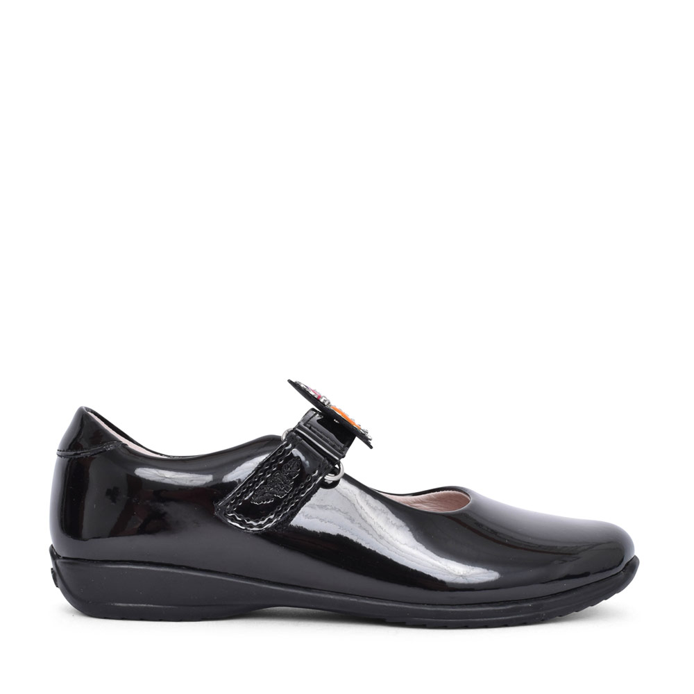 GIRLS LK8311 BONNIE F FIT VELCRO MARY JANE in BLK PATENT