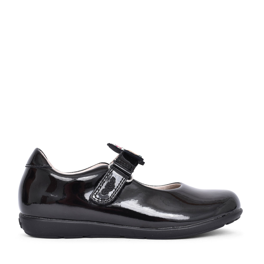 GIRLS LK8341 BONNIE G FIT VELCRO MARY JANE in BLK PATENT