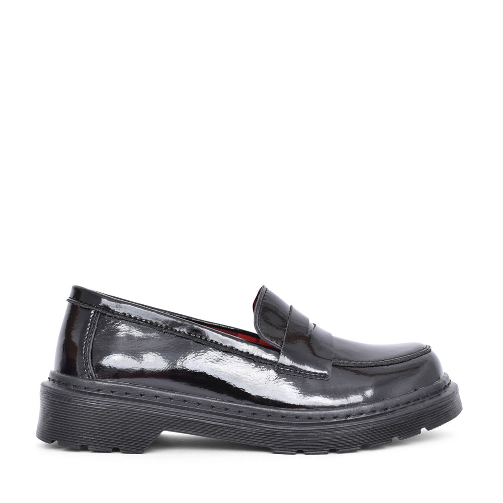 GIRLS ELECTRA SLIP ON SHOE  in BLK PATENT