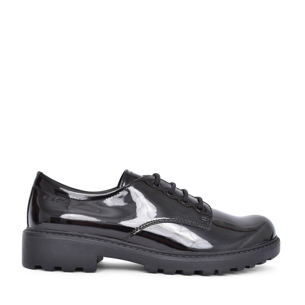 GIRLS J0420C CASEY LACED SHOE in BLK PATENT