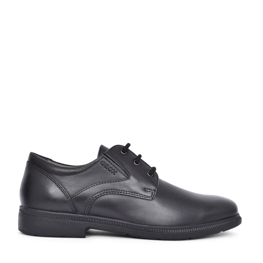 BOYS J04D1C FEDERICO LACED SHOE in BLK LEATHER