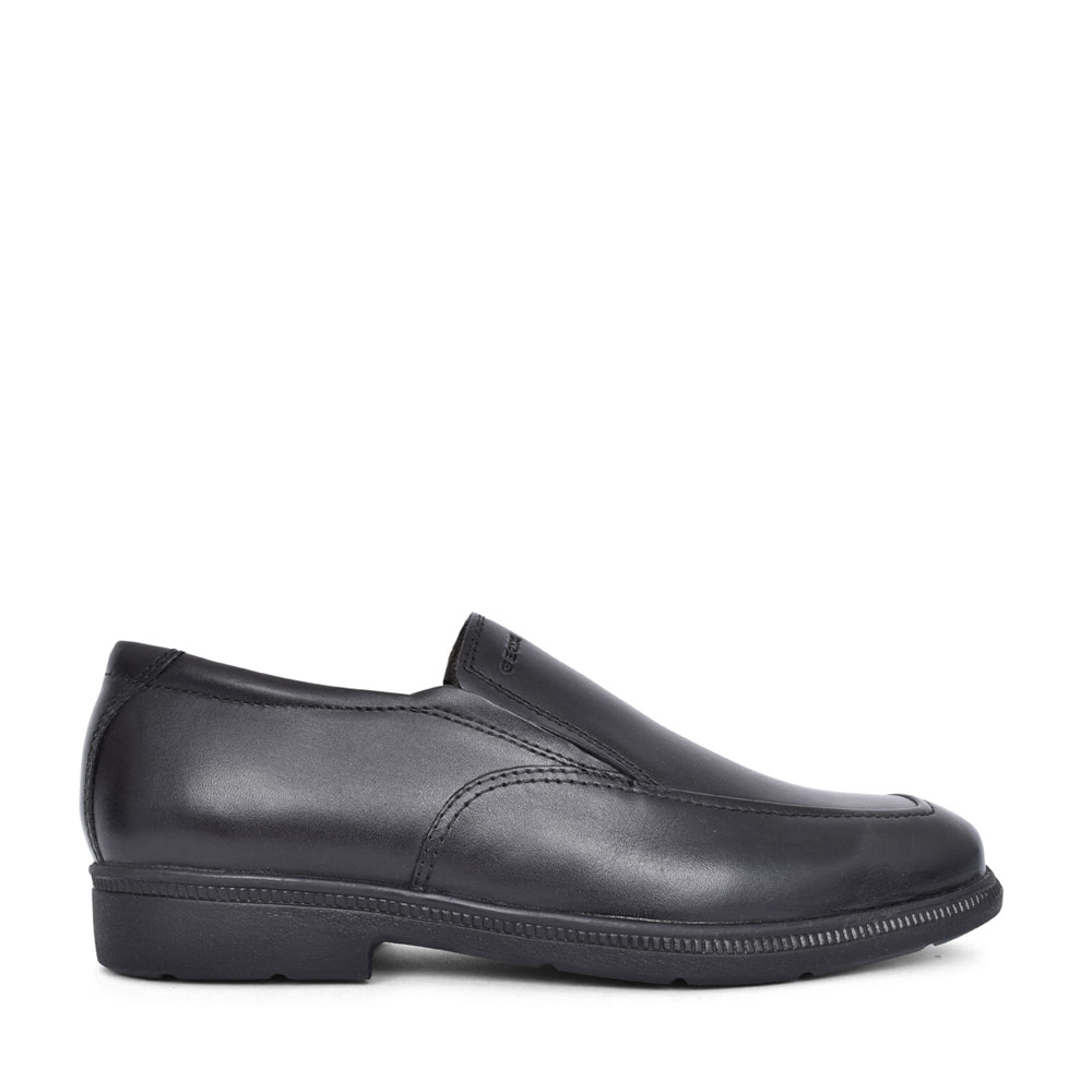 BOYS J04D1D FEDERICO SLIP ON SHOE in BLK LEATHER