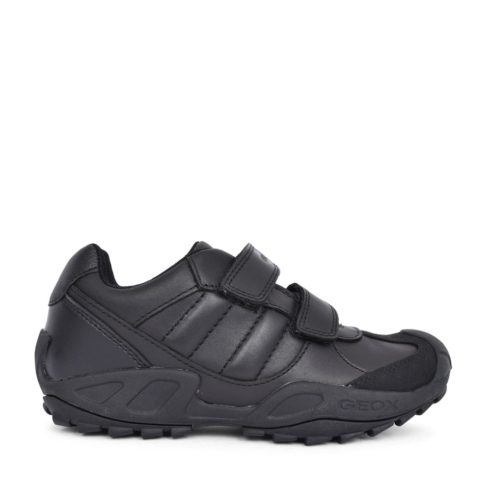 BOYS J841VB NEW SAVAGE DOUBLE VELCRO SHOE in BLK LEATHER