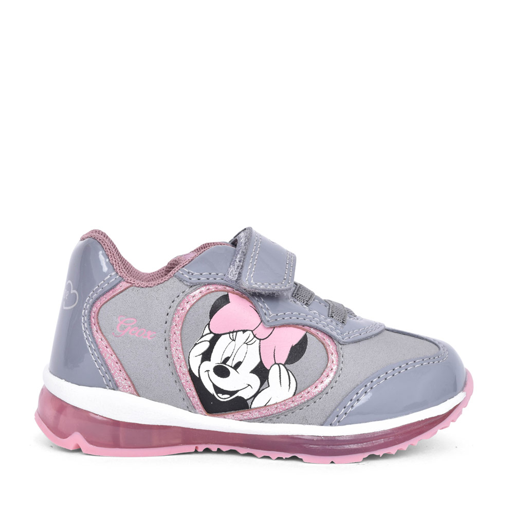 GIRLS B0485B TODO MINNIE MOUSE VELCRO TRAINER in GREY