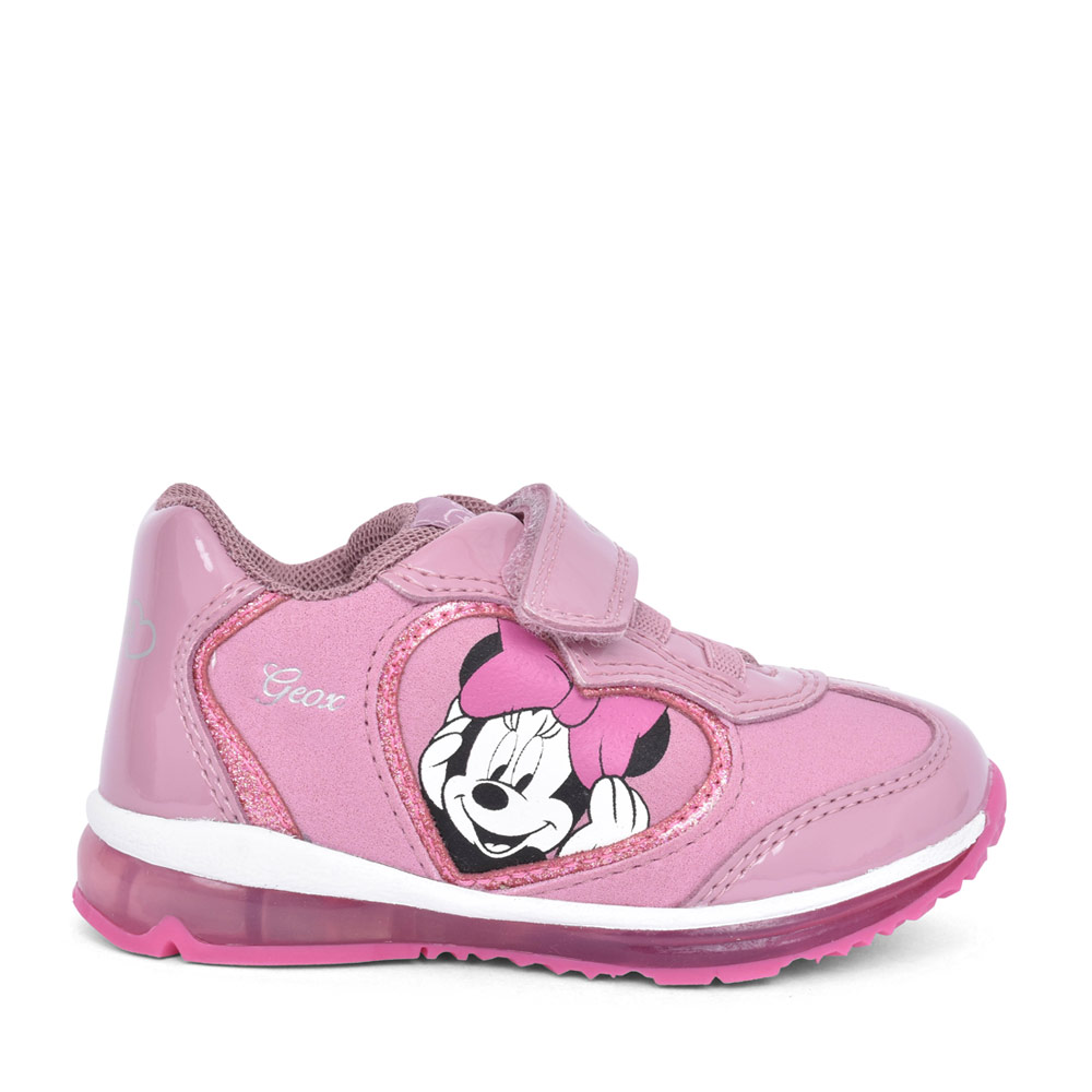 GIRLS B0485B TODO MINNIE MOUSE VELCRO TRAINER in ROSE
