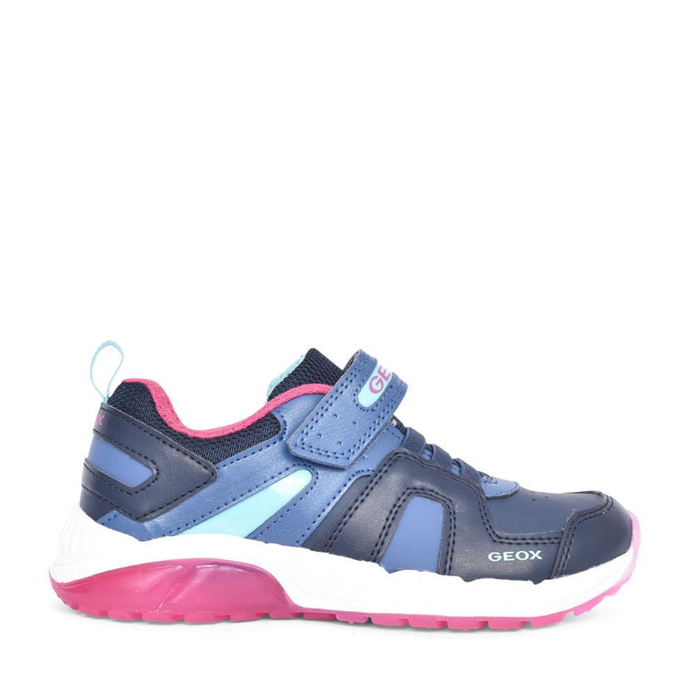GIRLS J04DAA SPAZIALE VELCRO TRAINER in NAVY