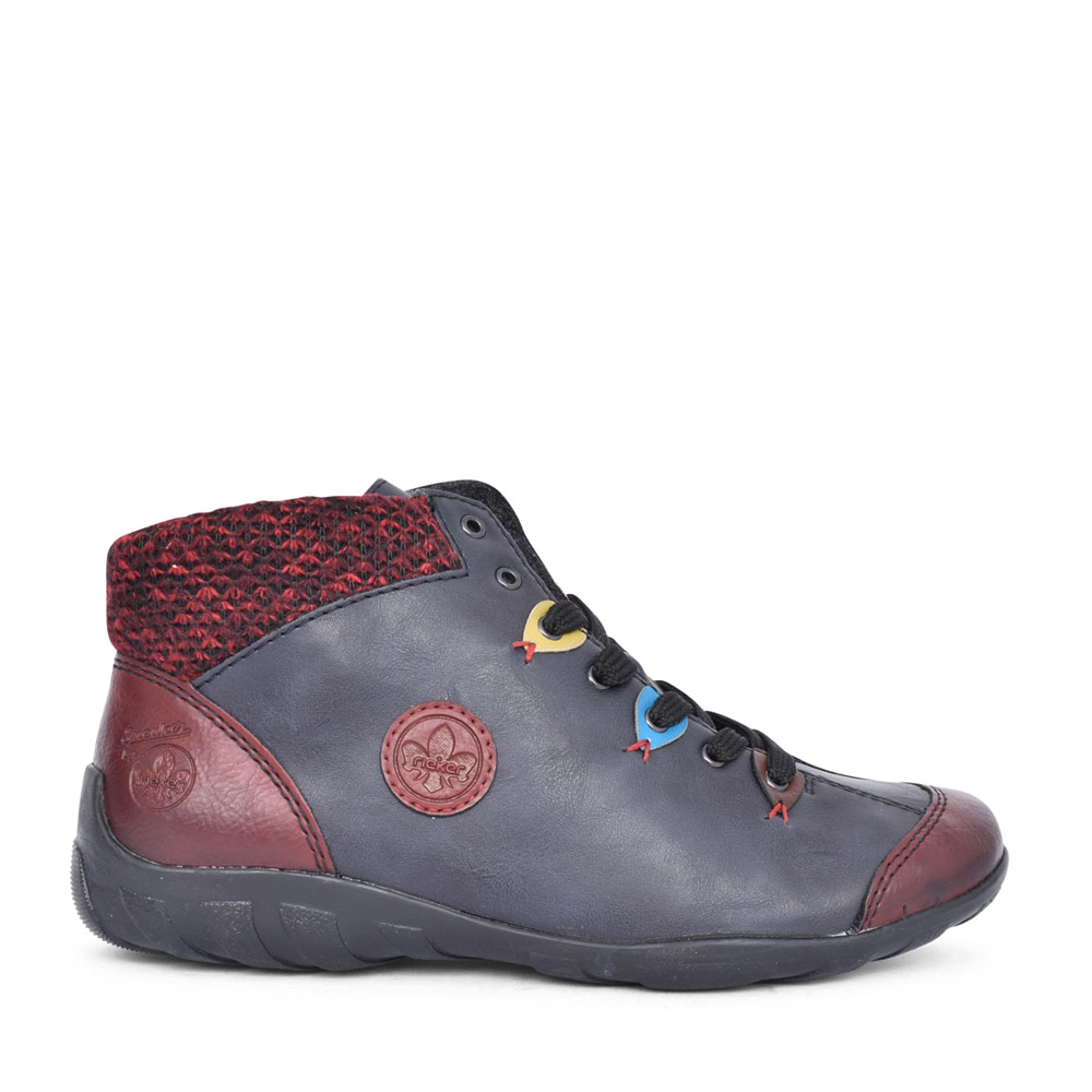 LADIES L6513 LACED ANKLE BOOT in NAVY