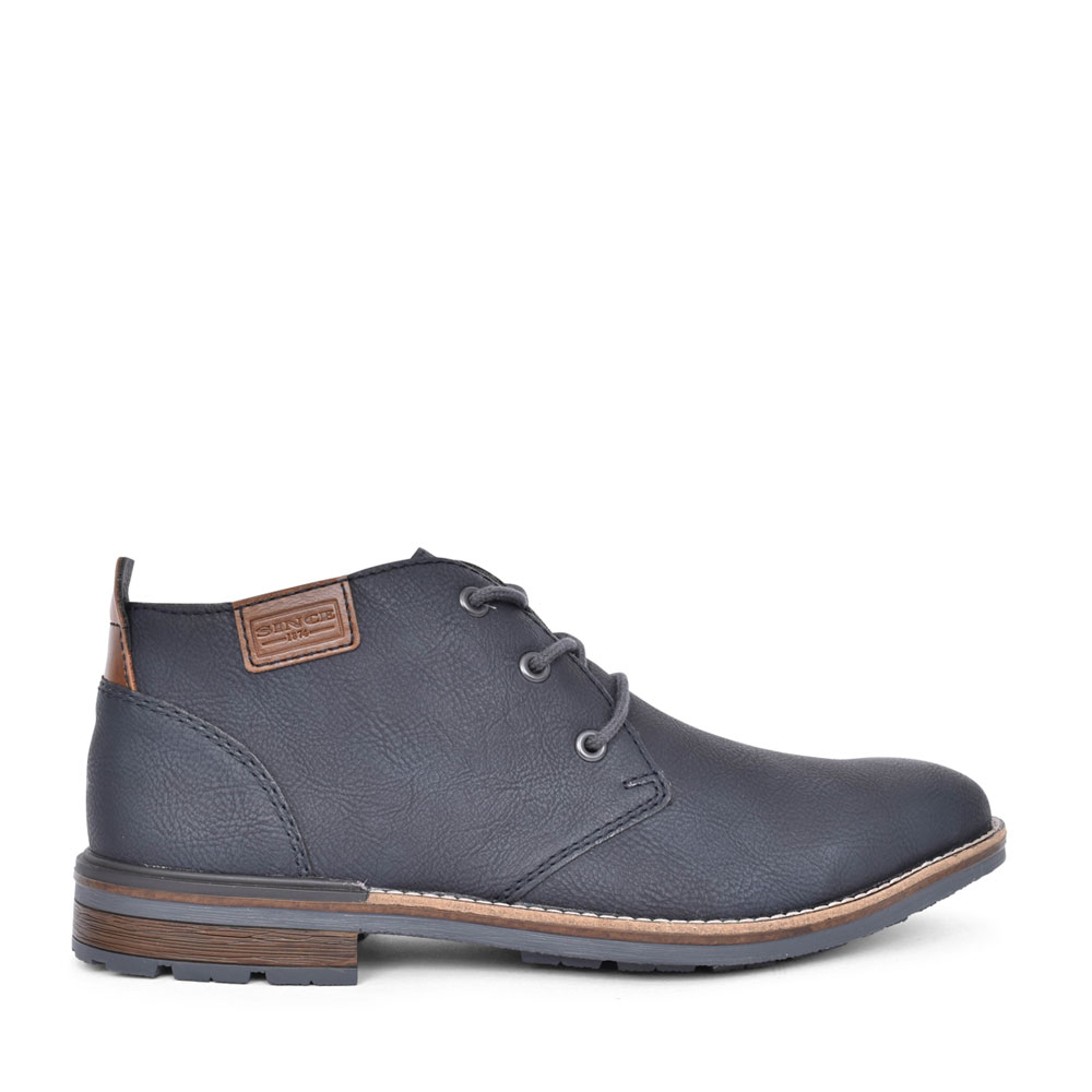 MENS B1340 LACED ANKLE BOOT in NAVY