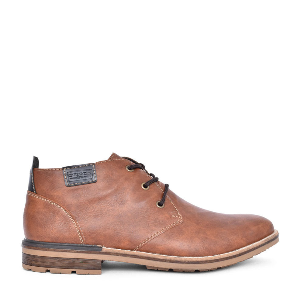 MENS B1340 LACED ANKLE BOOT in TAN