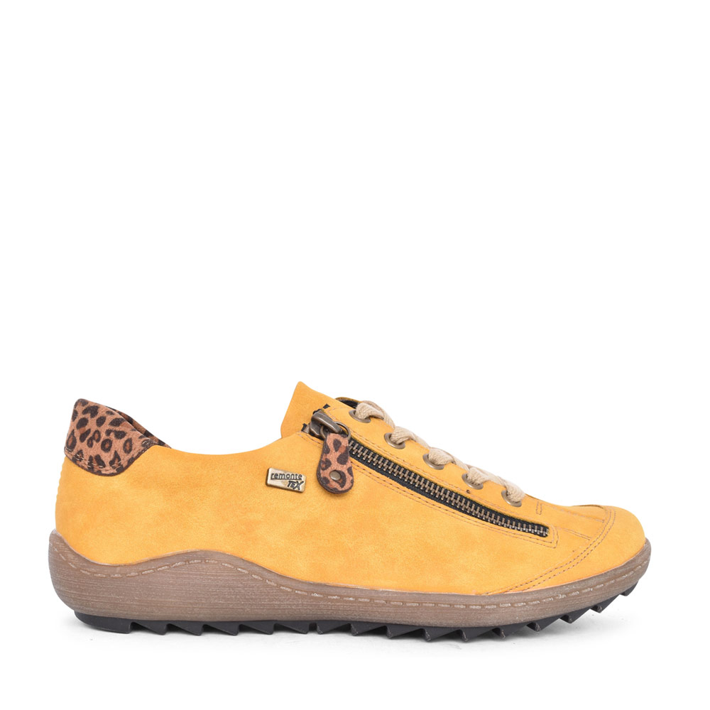 LADIES R1402 LACED SHOE in YELLOW