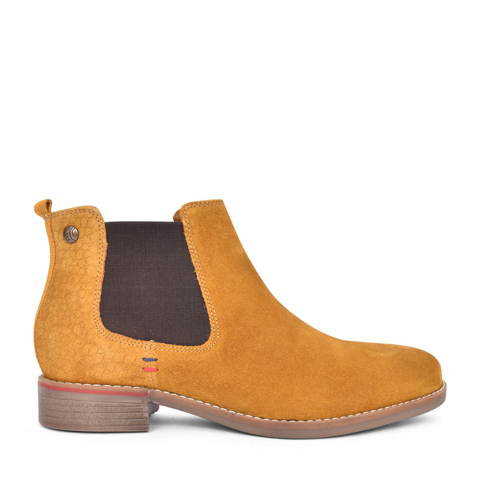 5-25345 CASUAL CHELSEA ANKLE BOOT in MUSTARD