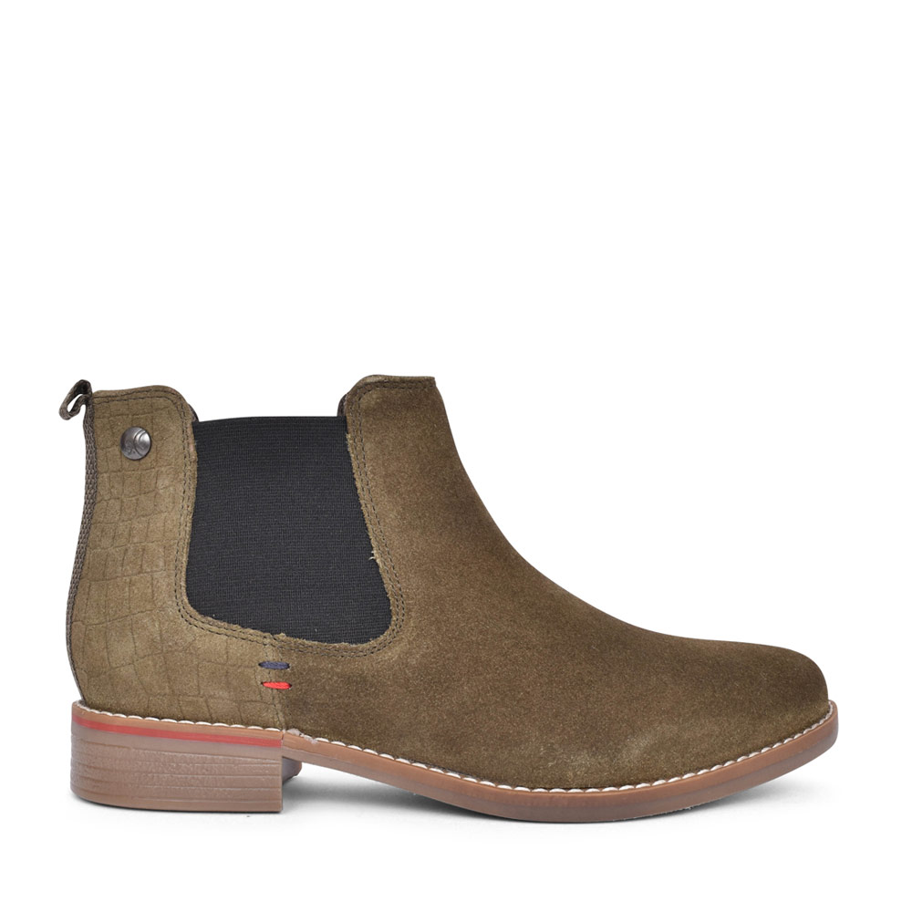 5-25345 CASUAL CHELSEA ANKLE BOOT in OLIVE