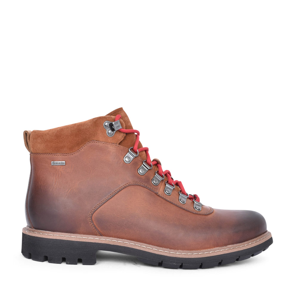 MENS BATCOMBE ALP LEATHER G FIT LACED ANKLE BOOT in TAN