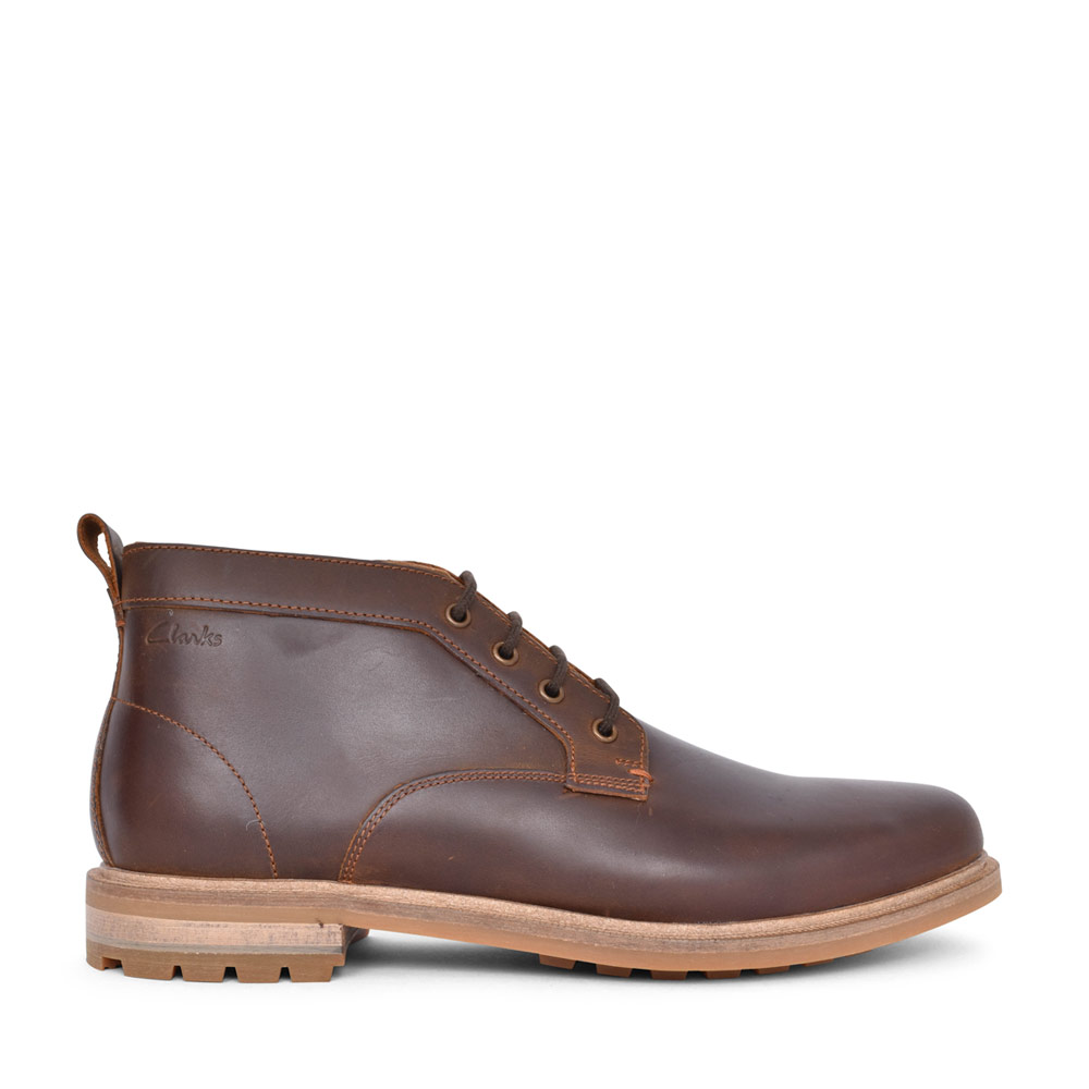 MENS FOXWELL MID LEATHER G FIT LACED ANKLE BOOT in TAN