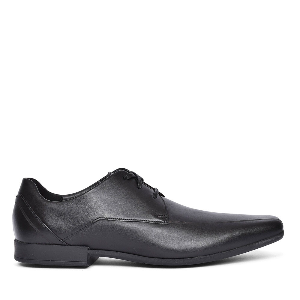 MENS GLEMENT OVER LEATHER G FIT LACED SHOE in BLK LEATHER