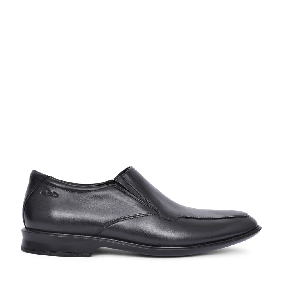 MENS BENSLEY STEP LEATHER G FIT SLIP ON SHOE in BLK LEATHER