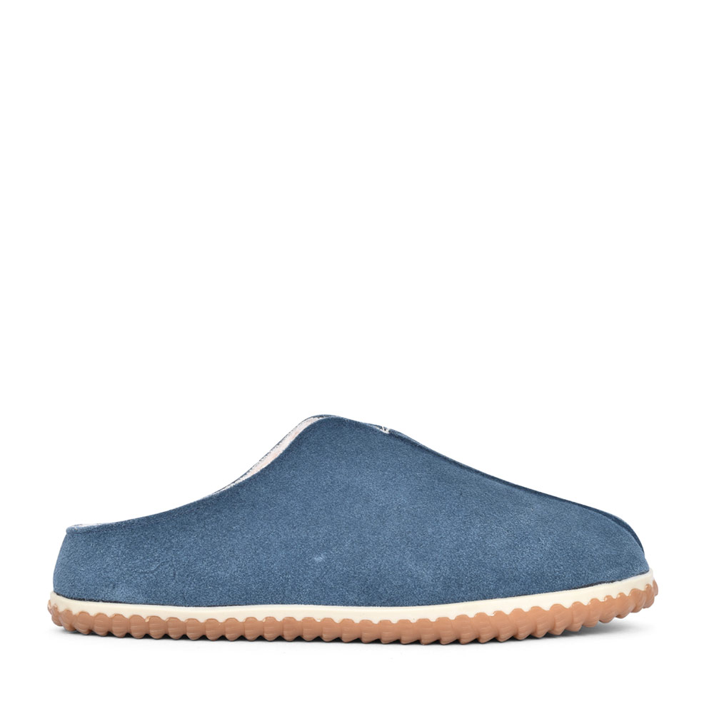 MENS HOME STYLE SUEDE G FIT MULE SLIPPER in TEAL