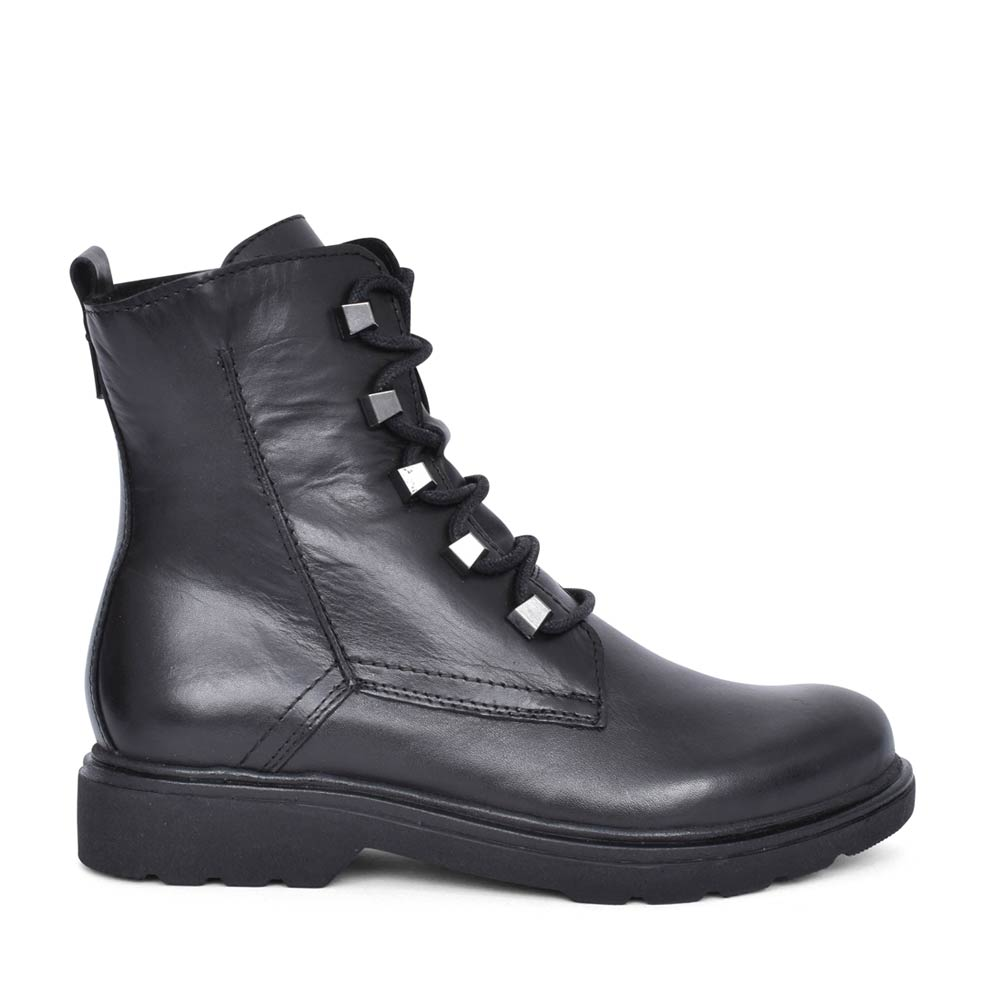 LADIES 2-25276 LACED ANKLE BOOT in BLACK