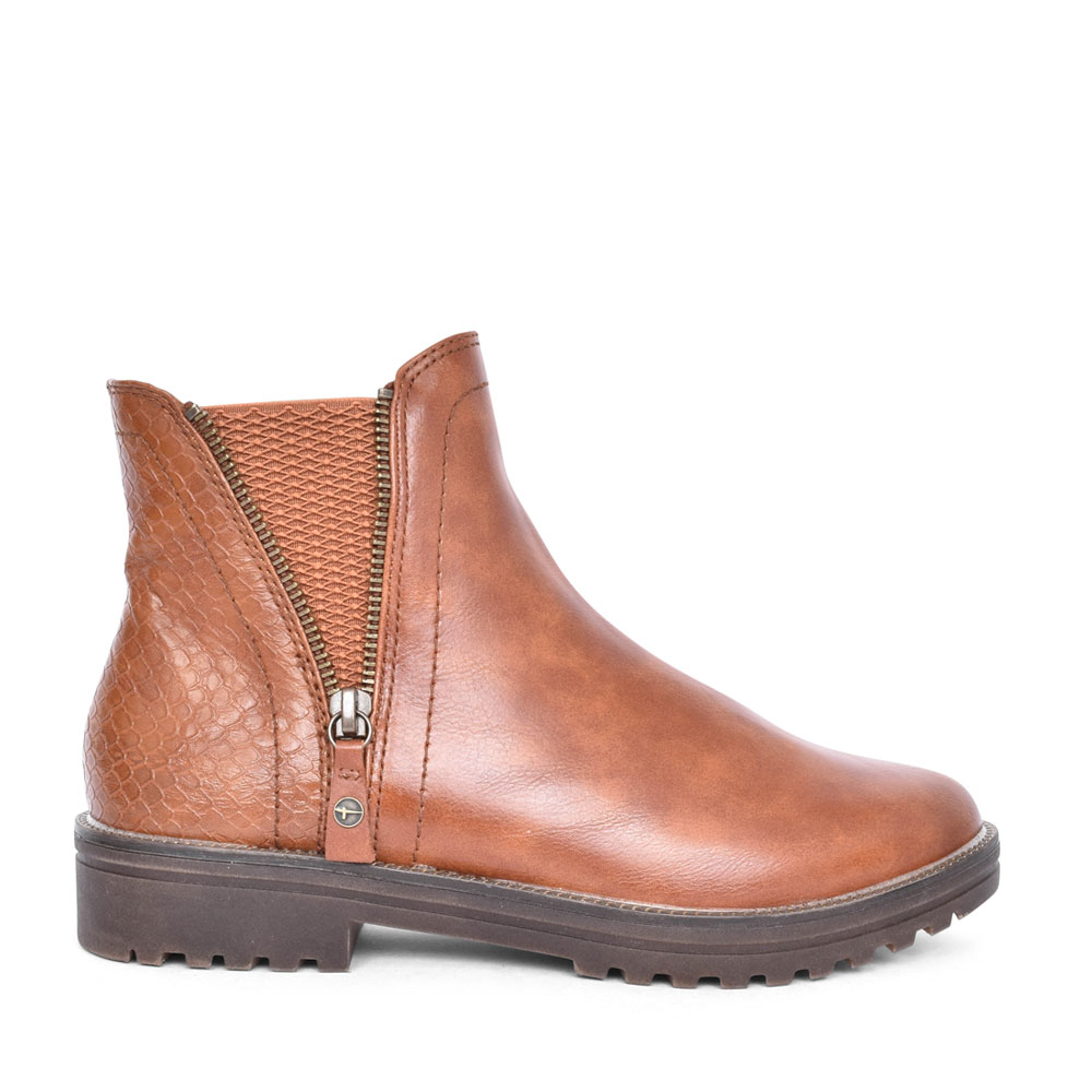LADIES 1-25403 ANKLE BOOT in TAN