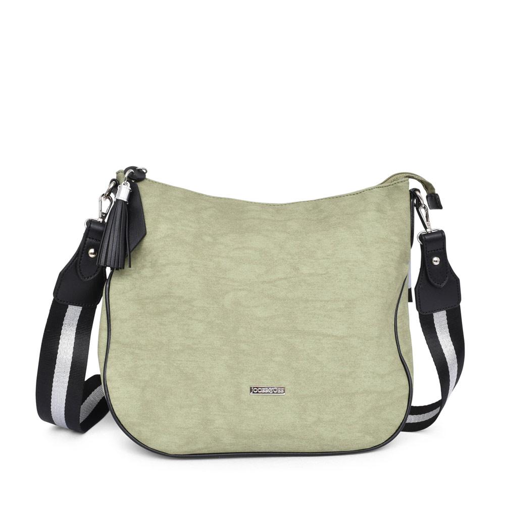 LADIES 30101 MARA TASSLE ZIP CROSSBODY BAG in GREEN