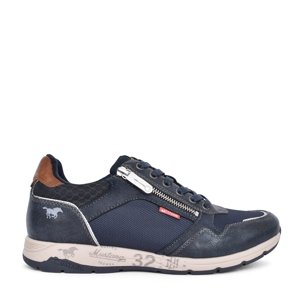 MENS 4106306 CASUAL LACED TRAINER in NAVY