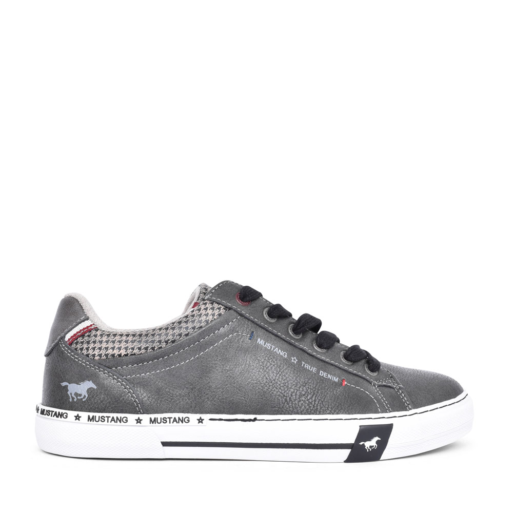 MENS 4146305 CASUAL LACED TRAINER in DARK GREY