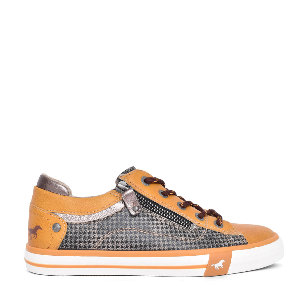 LADIES 1146315 CASUAL LACED TRAINER in YELLOW