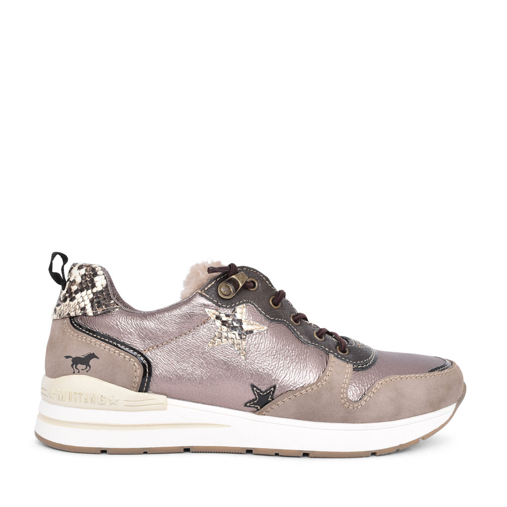 LADIES 1352309 CASUAL LACED TRAINER in BROWN