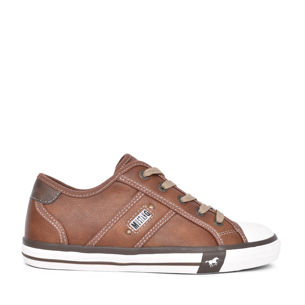 LADIES 1209301 CASUAL LACED TRAINER in TAN