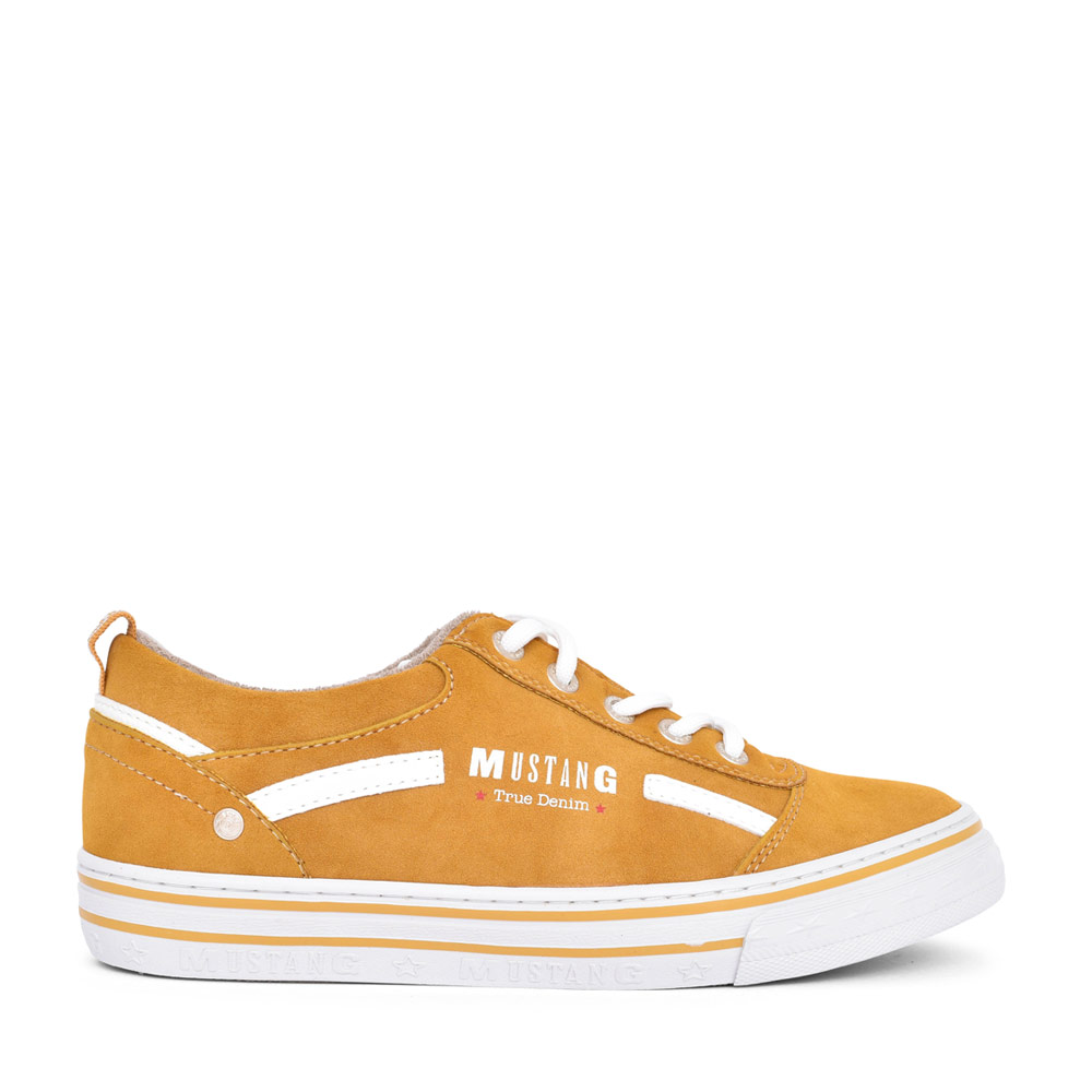 LADIES 1354312 CASUAL LACED TRAINER in YELLOW