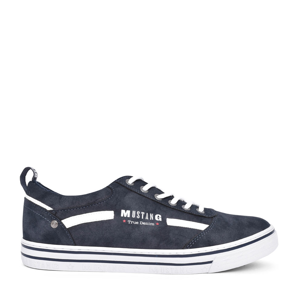 MENS 4147305 CASUAL LACED TRAINER  in NAVY