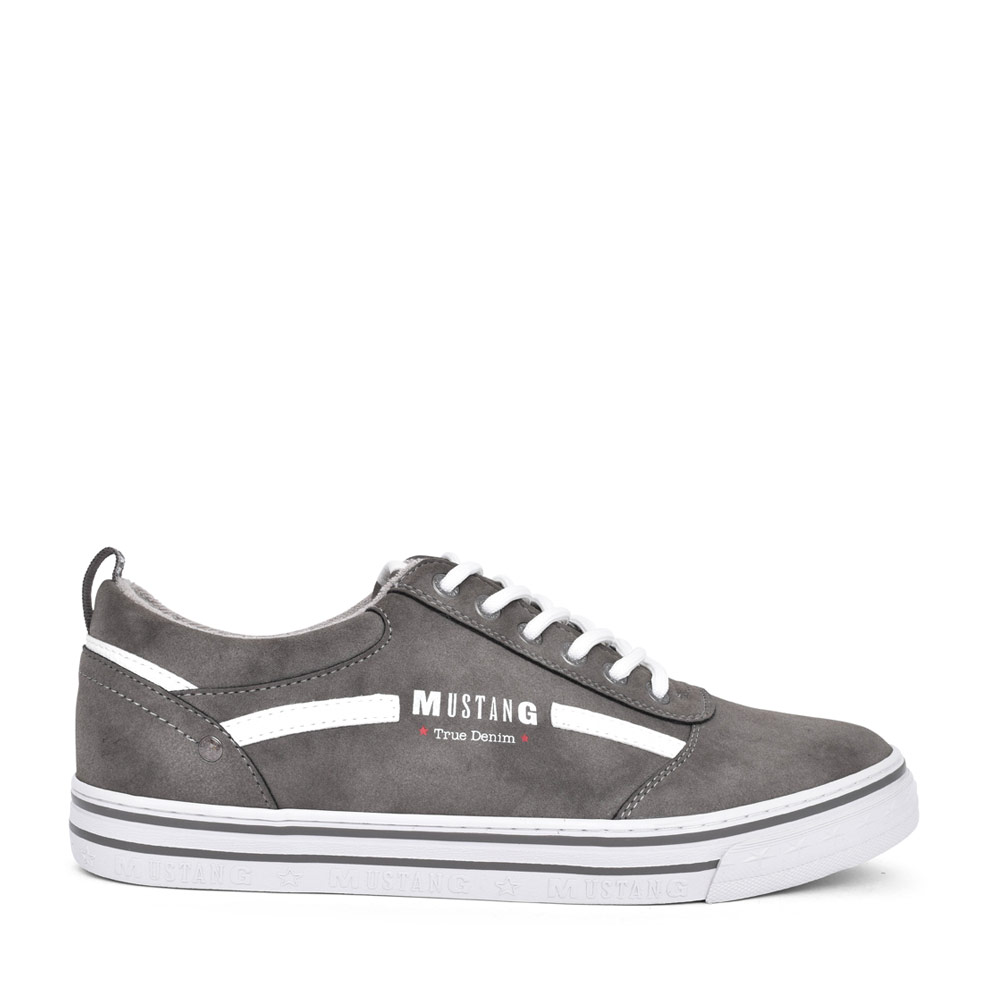 MENS 4147305 CASUAL LACED TRAINER  in GREY