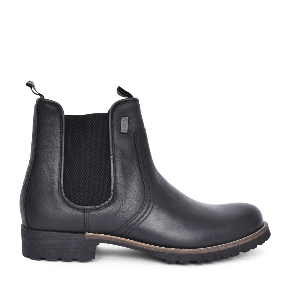 MENS FARGO ELASITCATED GUSSET ANKLE BOOT in BLACK