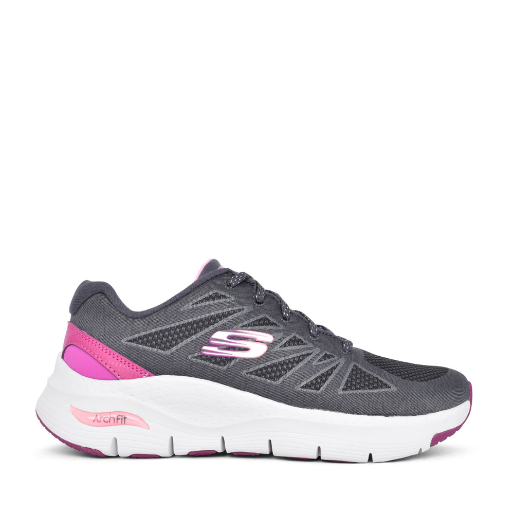 LADIES 149411 ARCH FIT SHE'S EFFORTLESS LACED TRAINER in GREY