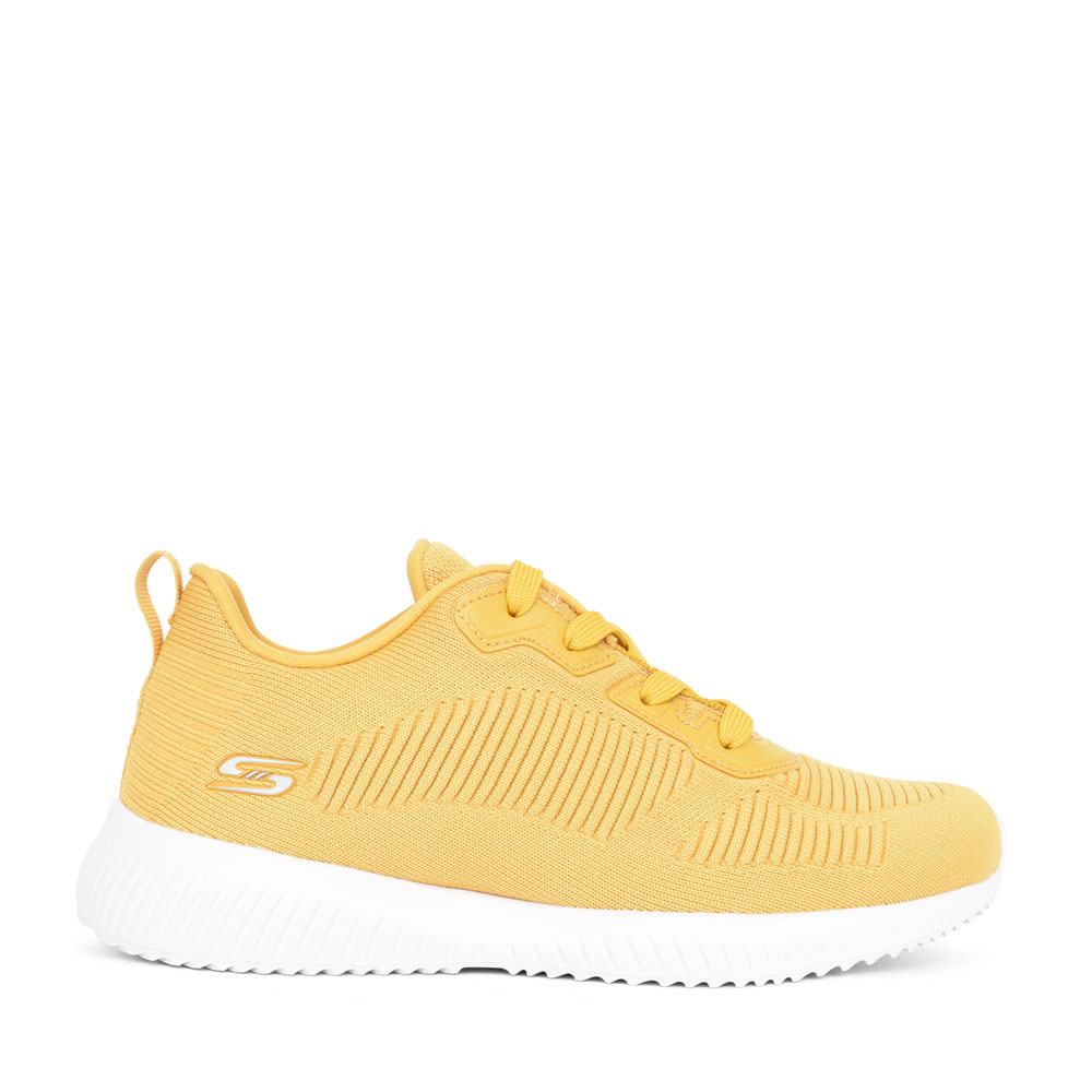 LADIES 32504 BOBS SQUAD LACED TRAINER in YELLOW