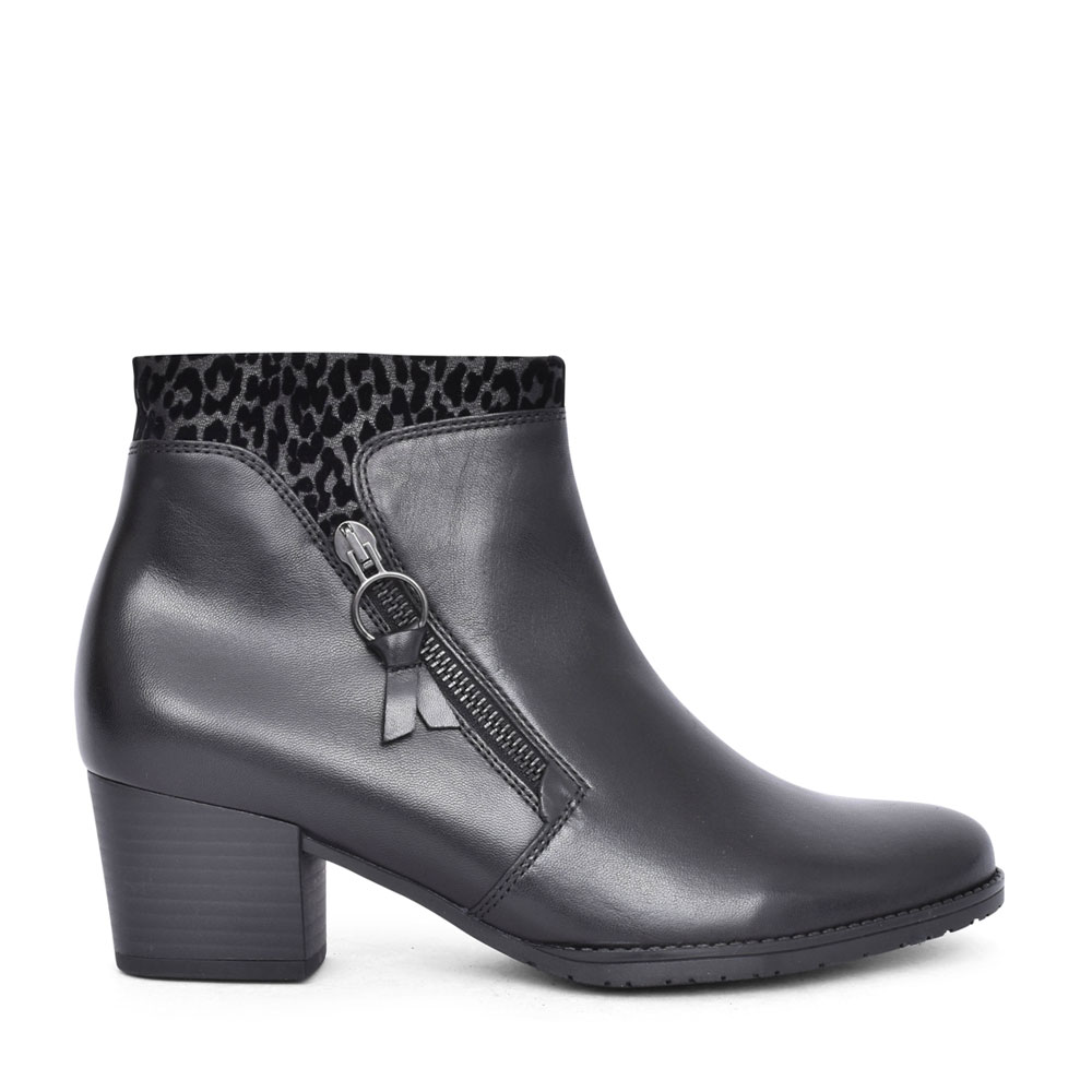 LADIES 52.831 LASOTE LOW HEEL ANKLE BOOT in BLACK