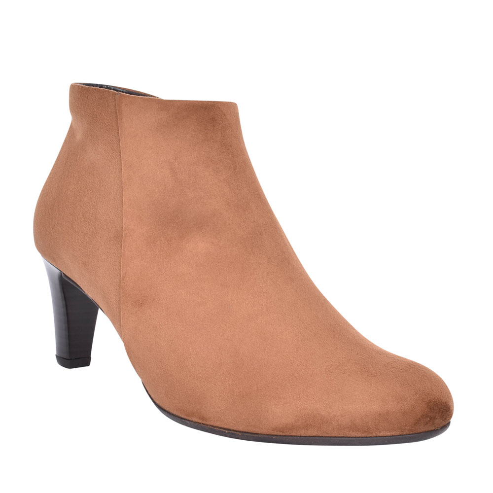 LADIES 55.85 FATALE MEDIUM HEEL ANKLE BOOT in TAN