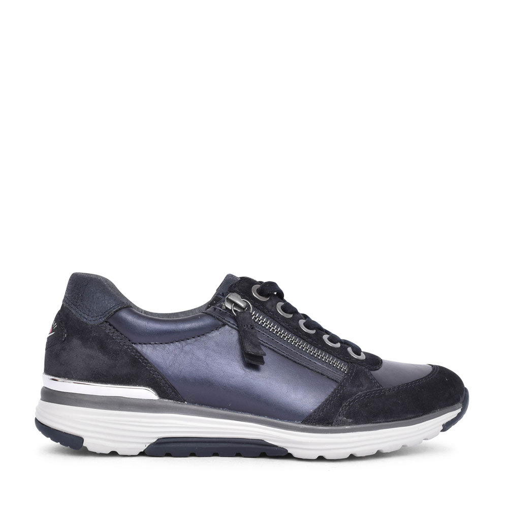LADIES 56.973 HENSHAW LACED & ZIP ENTRY TRAINER in NAVY