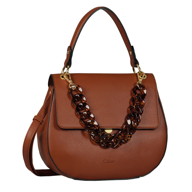 LADIES 8533 AMRA FLAP BAG in TAN