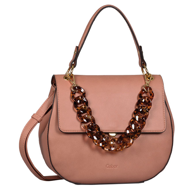 LADIES 8533 AMRA FLAP BAG in ROSE