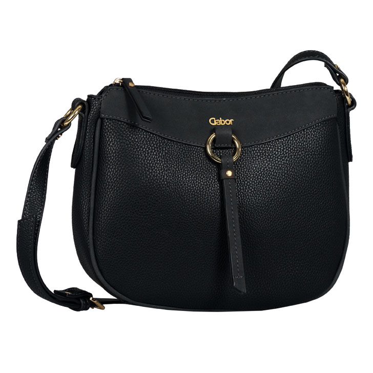 LADIES 8539 LILLIAN CROSSBODY BAG in BLACK