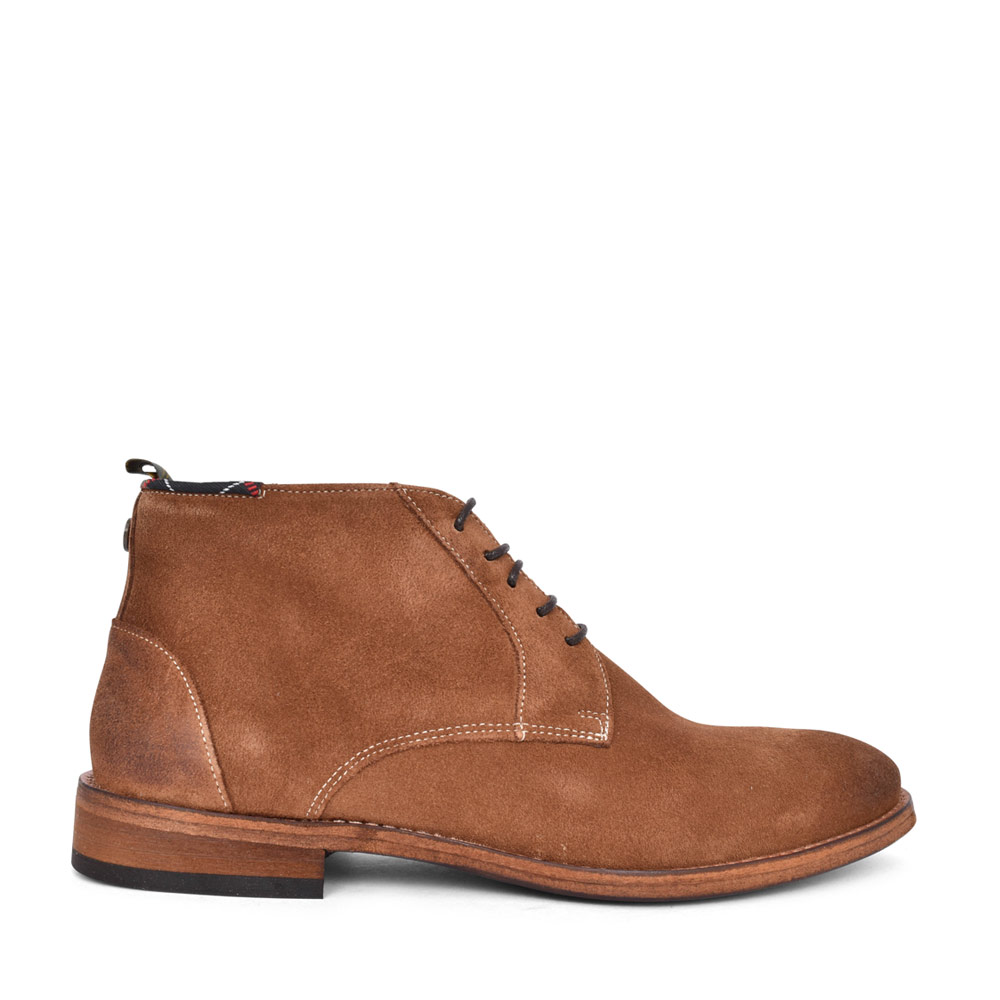 MENS BENWELL LACED SUEDE ANKLE BOOT in BROWN