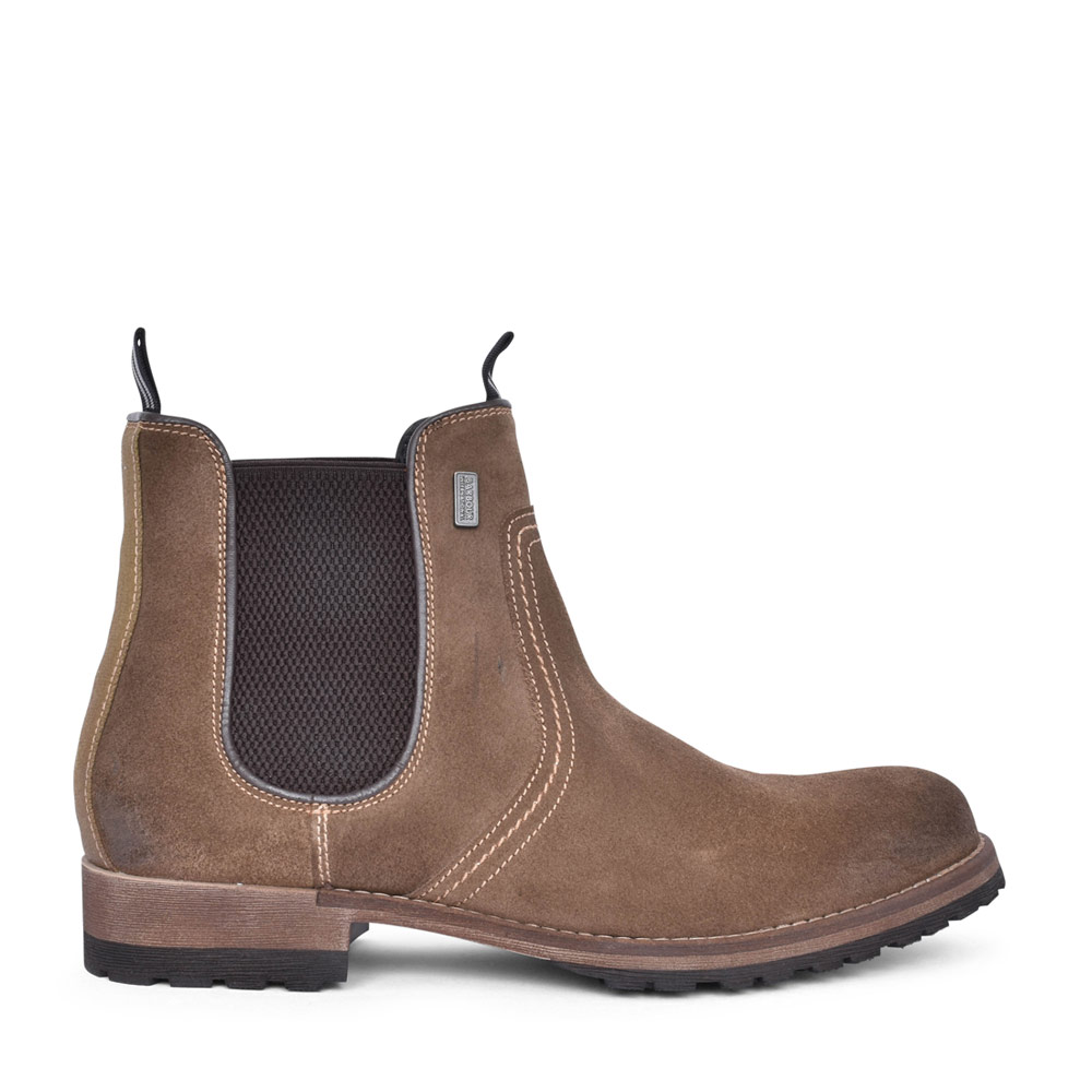 MENS FARGO ELASTICATED GUSSET ANKLE BOOT in BROWN