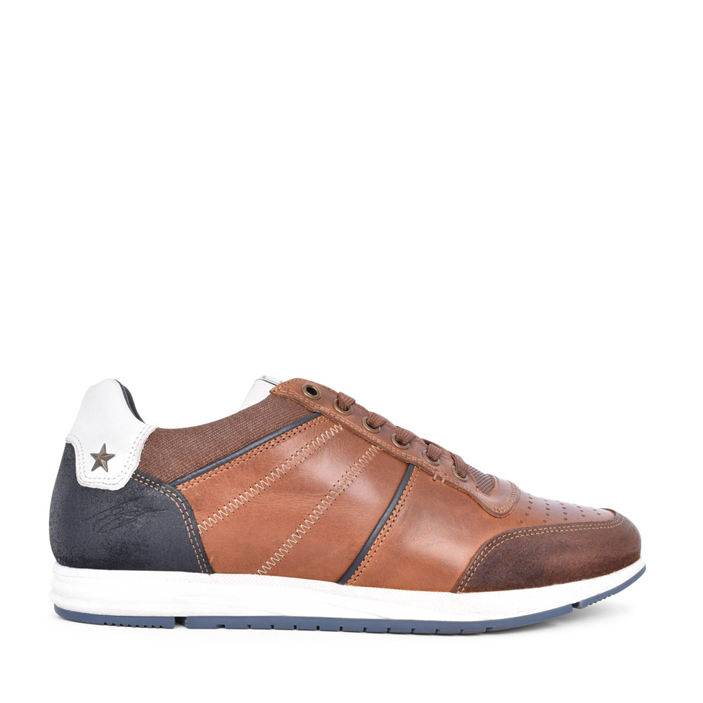 MENS REILLY LACED TRAINER in CAMEL
