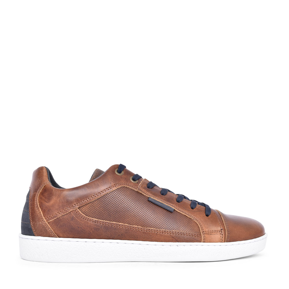 MENS WARD LACED TRAINER in CAMEL