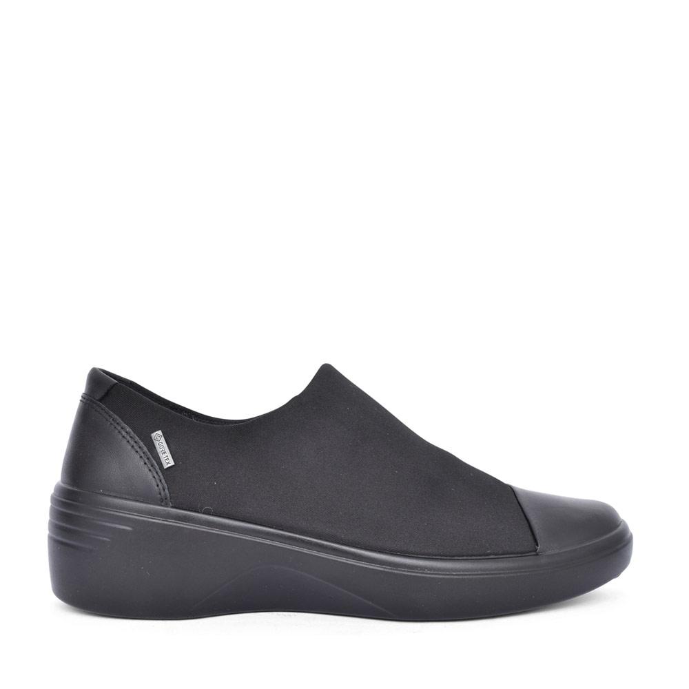 LADIES 470913 SOFT 7 WEDGED SLIP ON SHOE in BLACK