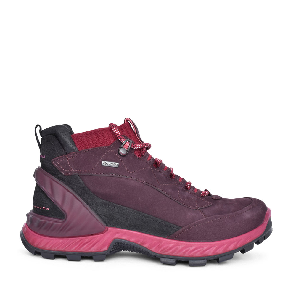 LADIES EXOHIKE LACED GORTEX WALKING BOOT in PLUM