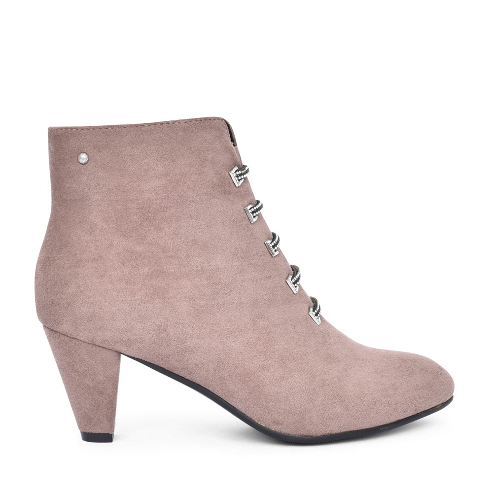 LADIES ZEBOINE MEDIUM HEEL ANKLE BOOT in GREY