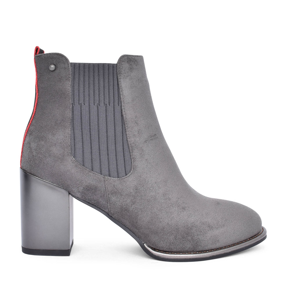 LADIES HARBATA MEDIUM HEEL ANKLE BOOT in GREY