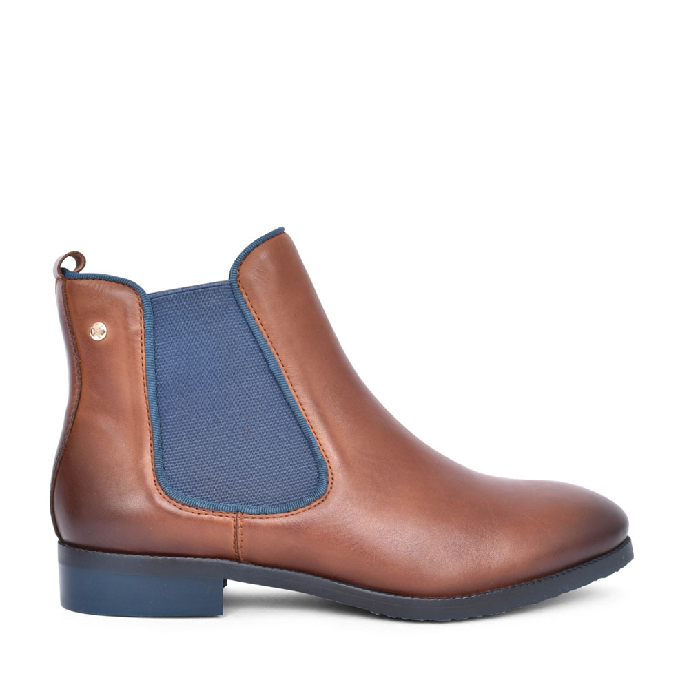 LADIES ROYAL W4D-8637ST CHELSEA ANKLE BOOT in BROWN